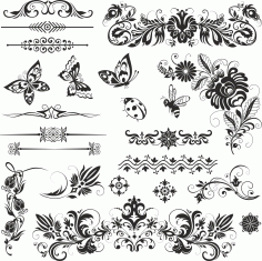 Ornaments Nsect Set Free CDR Vectors File