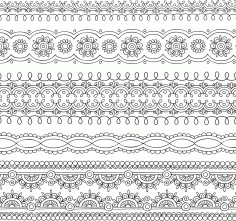 Ornate Pattern Vector Free CDR Vectors File