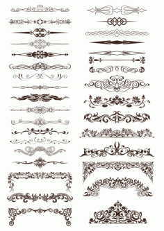 Ornate Vintage Borders and Rule Lines Free CDR Vectors File