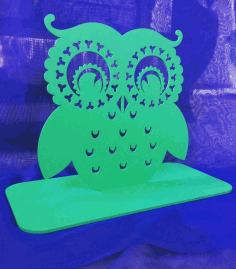 Owl Earring Holder Jewelry Stand Free CDR Vectors File