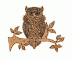 Owl Engraving Vector File Free CDR File
