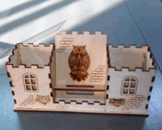 Owl House Organizer for Laser Cut CDR File