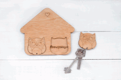 Owl Key Hanger Template Free CDR File