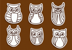 Owl Outline Vectors Free Dxf File For Cnc DXF Vectors File