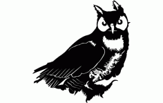 Owl Vector Free Dxf File For Cnc DXF Vectors File