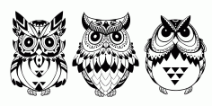 Owls Vector Art CDR File