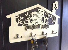 Owls Wall Key Hanger Free CDR File