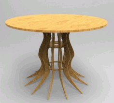 Parametric Round Table Laser Cut DXF File