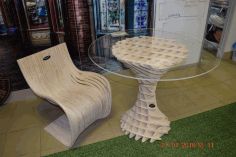 Parametric Table Design Laser Cutting Free CDR File