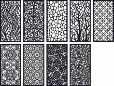 Pattern Panel Screen Collection Free CDR Vectors File