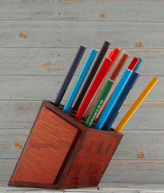 Pencil Holder Organizer Laser Cut Free CDR File