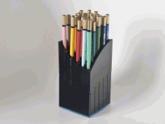 Pencil Holder Organizer Laser Cut DXF File