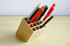 Pencil Stand 3mm Desk Organizer Laser Cut DXF File