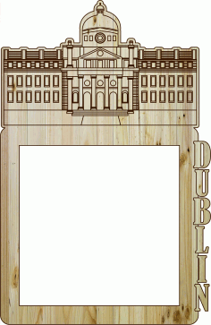 Photo Frame Dublin Laser Cut DXF File