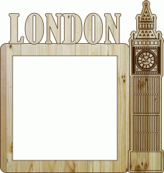 Photo Frame London Laser Cut DXF File