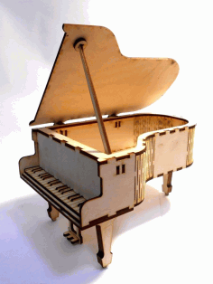 Piano Shaped Box Free Vector CDR File