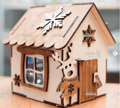 Piggy House Laser Cut CDR File