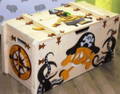 Pirate Box for Laser Cut CNC DXF File