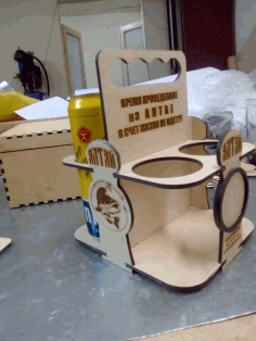 Plywood Beer Carrier Beer Candy  Laser Cut CDR File