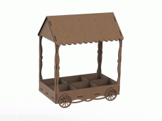 Plywood Candy Cart Template Laser Cut CDR File