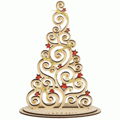 Plywood Christmas Tree On Stand CNC Laser Cut Cnc Template Free CDR File