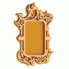 Plywood Mirror Frame Free DXF Vectors File