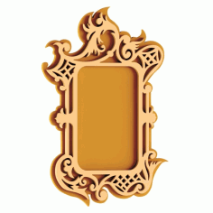 Plywood Mirror Frame Laser Cut DXF File