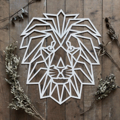 Polygon Wall Art Lion Face Free Vector CDR File
