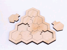 Pomegranate Puzzle Game Laser Cut CDR File