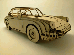 Porsche 911 1964 Wooden Model 3mm Laser Cut Free CDR File