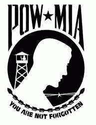 Pow Mia Metal Cut Out DXF File