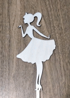 Princess Cake Topper CDR File