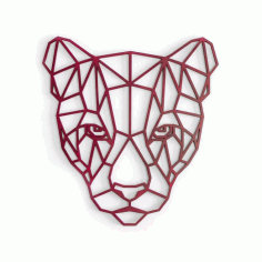Puma Polygonal Wall Art Laser Cutting Design CDR File