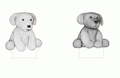 Puppies 3d Led Night Light Free CDR Vectors File