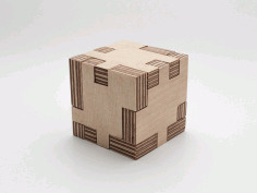 Puzzle Cube Laser Cut Free Vector DXF File