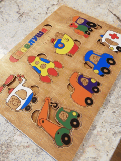 Puzzle Game for Kids Laser Cut CDR File