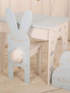 Rabbit Chair Bunny Chair Nursery Furniture for Kids CDR File
