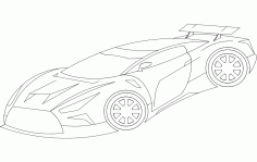 Racer Car Design Free DXF Vectors File