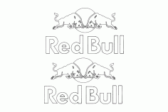 Red Bull Free Vector DXF File