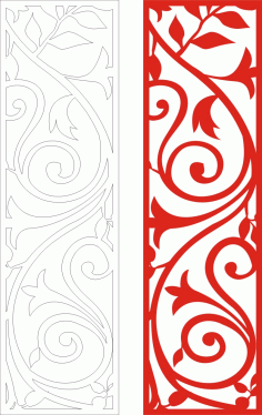 Red Way Seamless Screen Grille Panel Pattern Laser Cut CDR File