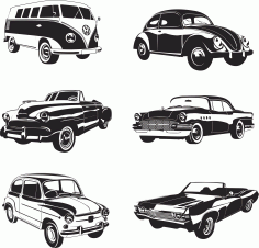 Retro Cars Vector Pack Free CDR Vectors File