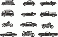 Retro Vehicle Vector Pack Free CDR Vectors File