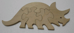 Rhinoceros Jigsaw Puzzle Template Laser Cut DXF File