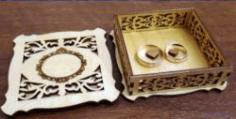 Ring Box Jewellery Box Laser Cut DXF File