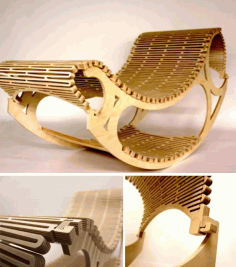 Rocking Wooden Chair CNC Laser Cut DXF File