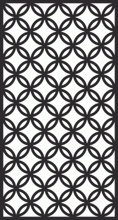 Room Divider Screen Pattern Free Vector CDR File