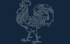 Rooster Free Dxf For Cnc DXF Vectors File