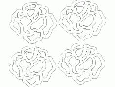Rosa 21 Pp 19,94×17,39 Free DXF Vectors File