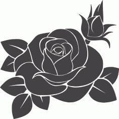 Rose Flower Free DXF Vectors File