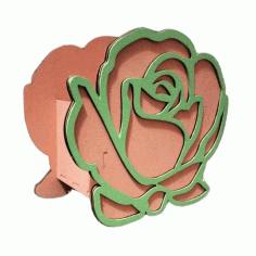 Rose Shaped Box Valentines Day Gifts Valentine Flower Box Laser Cut CDR File
